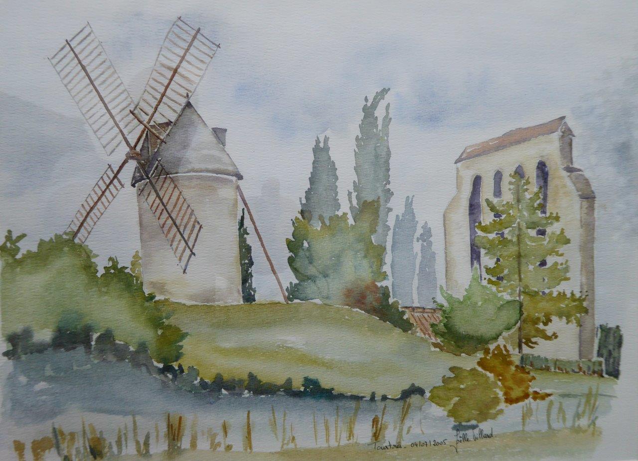 Eglise et Moulin de Tourtrès